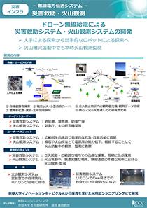 災害インフラ-無線電力伝送システム-災害救助・火山観測