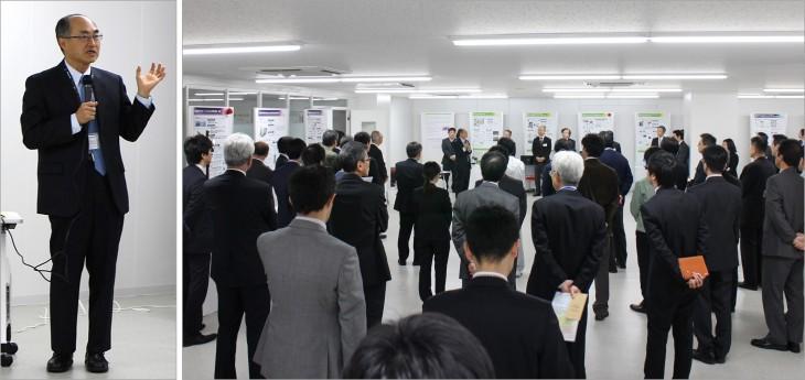 野村プロジェクトリーダーに      当日の会場の様子 よる開会の挨拶
