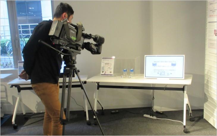 国際科学イノベーション棟1F展示の撮影
